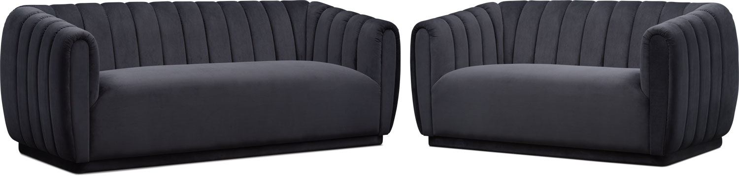 Living Room Furniture - Primm Sofa and Loveseat Set