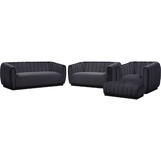 Primm Sofa, Loveseat, Chair and Ottoman