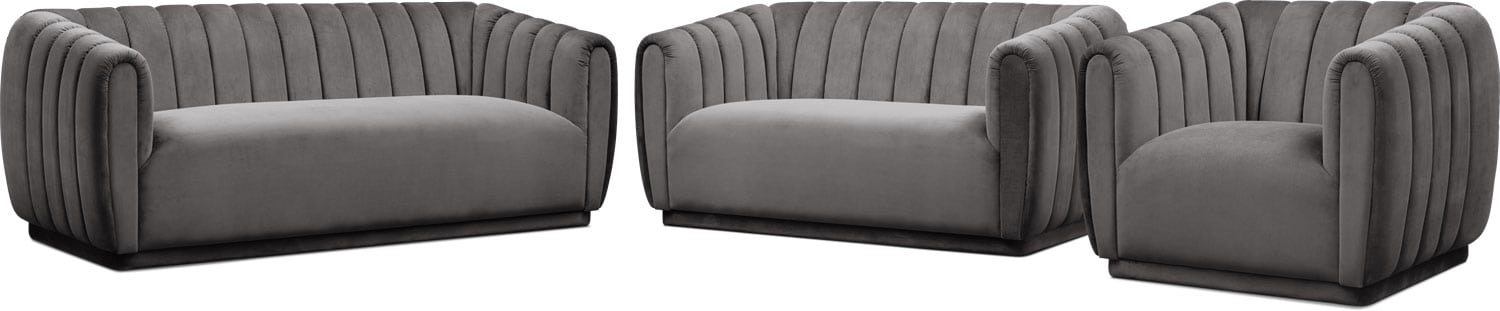 Living Room Furniture - Primm Sofa, Loveseat and Chair