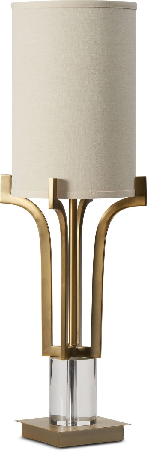 Home Accessories - Brushed Brass Crystal Table Lamp