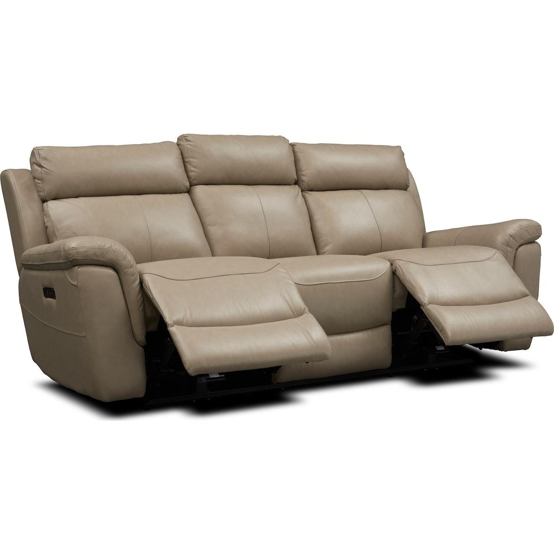 Brooklyn Dual Power Reclining Sofa Value City Furniture