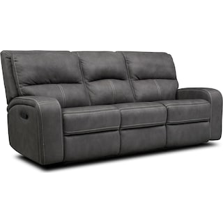 Burke Manual Reclining Sofa - Charcoal