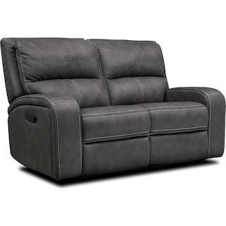 Burke Manual Reclining Loveseat- Charcoal