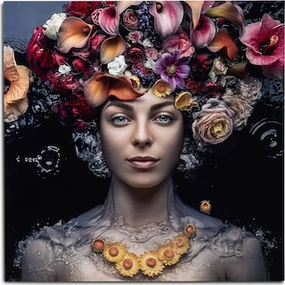 Flowers in Hair Wall Art
