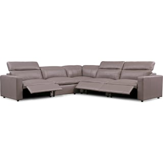 Happy 5-Piece Dual-Power Reclining Sectional with 3 Reclining Seats