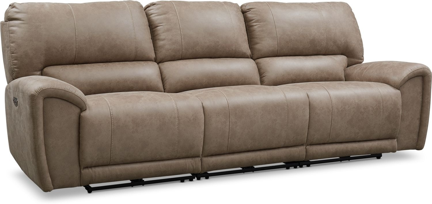 Living Room Furniture - Gallant 3-Piece Dual-Power Reclining Sofa