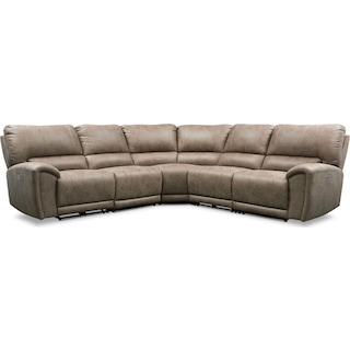 Gallant 5-Piece Dual-Power Reclining Sectional with 3 Reclining Seats
