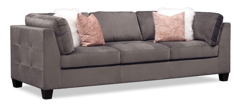 Living Room Furniture - Mackenzie Sofa - Gray