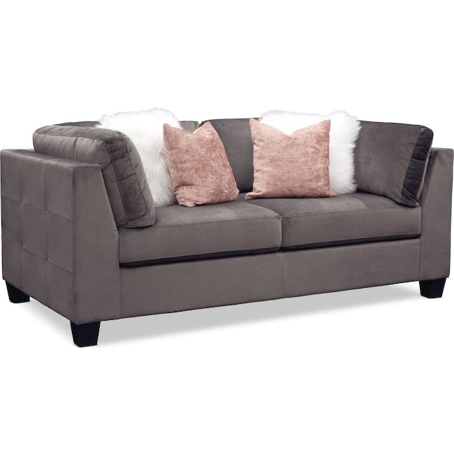 Living Room Furniture - Mackenzie Loveseat - Gray