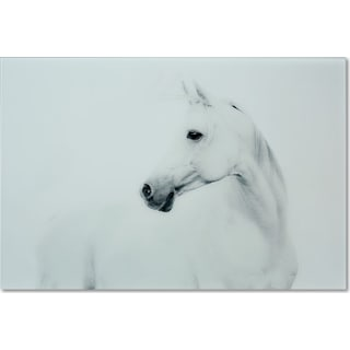 Blanco Mane Stallion Wall Art