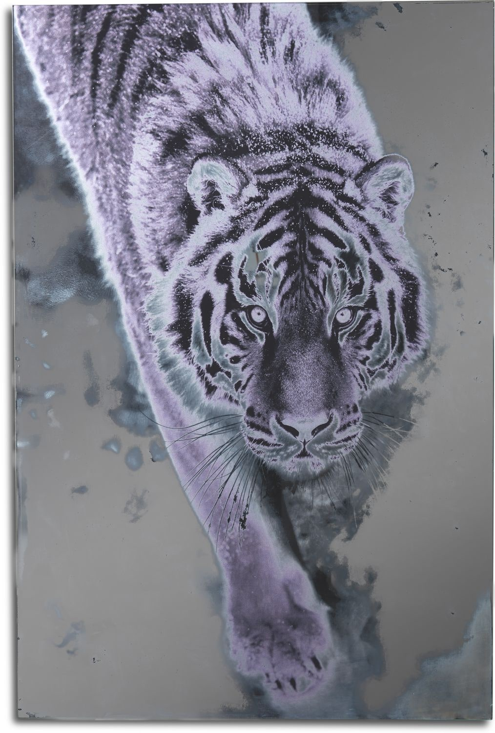 Home Accessories - Silver Tiger Wall Art
