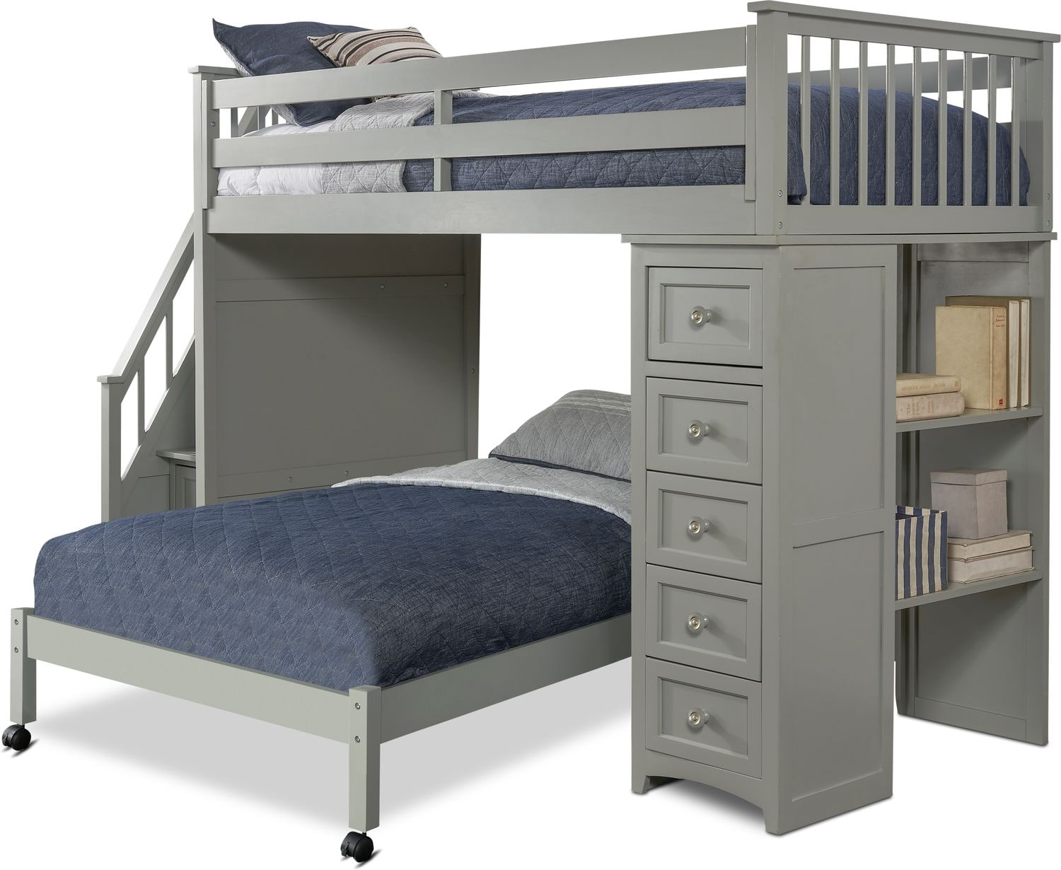 Flynn Loft Bed With Storage Stairs And Chest Value City