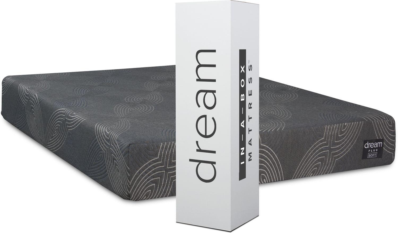 Mattresses and Bedding - Dream-In-A-Box Plus Soft Queen Mattress