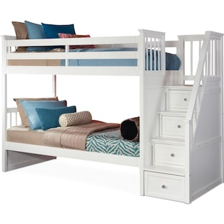 Flynn Bunk Bed with Storage Stairs