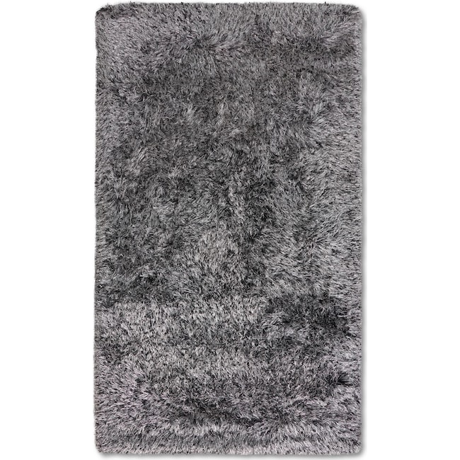 Rugs - Glam Area Rug - Black