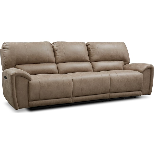 Living Room Furniture - Gallant 3-Piece Manual Reclining Sofa