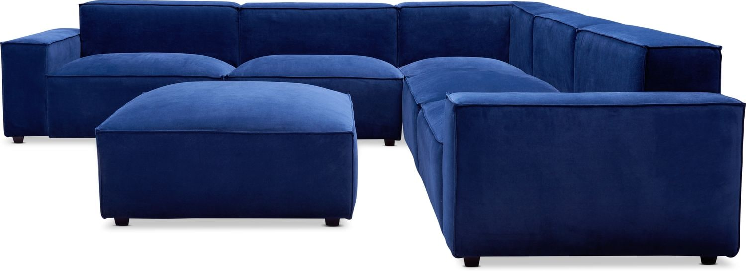 Living Room Furniture - Bobby Berk Olafur 5-Piece Sectional with Ottoman