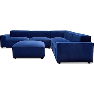 Bobby Berk Olafur 5-Piece Sectional with Ottoman