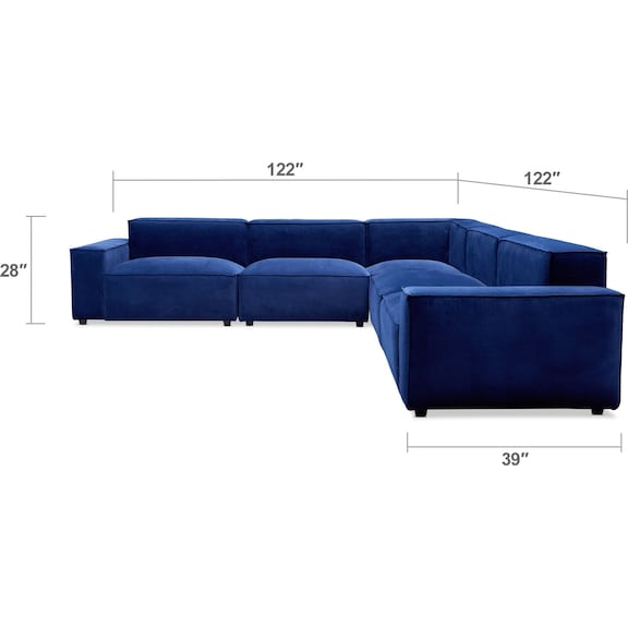 Living Room Furniture - Bobby Berk Olafur 5-Piece Sectional