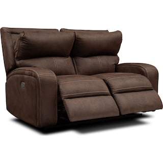 Burke Dual-Power Reclining Loveseat