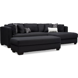 Rosalyn 2-Piece Sectional with Chaise and Ottoman