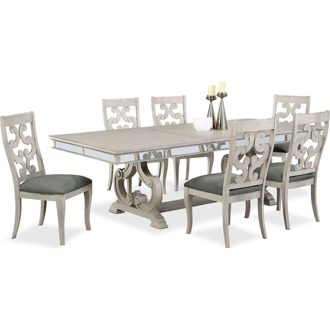 Dining Room Furniture - Athena Dining Table and 6 Side Chairs