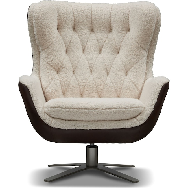 Pleasing Simone Sherpa Swivel Chair Gmtry Best Dining Table And Chair Ideas Images Gmtryco