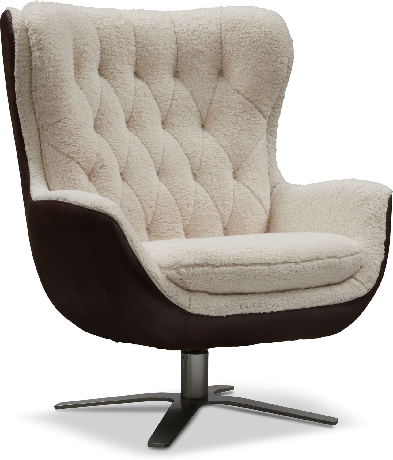 Phenomenal Simone Sherpa Swivel Chair Gmtry Best Dining Table And Chair Ideas Images Gmtryco