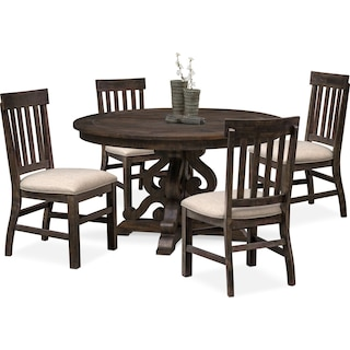Charthouse Round Dining Table and 4 Side Chairs