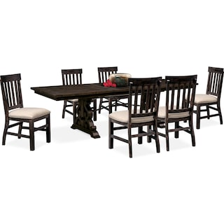 Charthouse Rectangular Dining Table and 6 Side Chairs