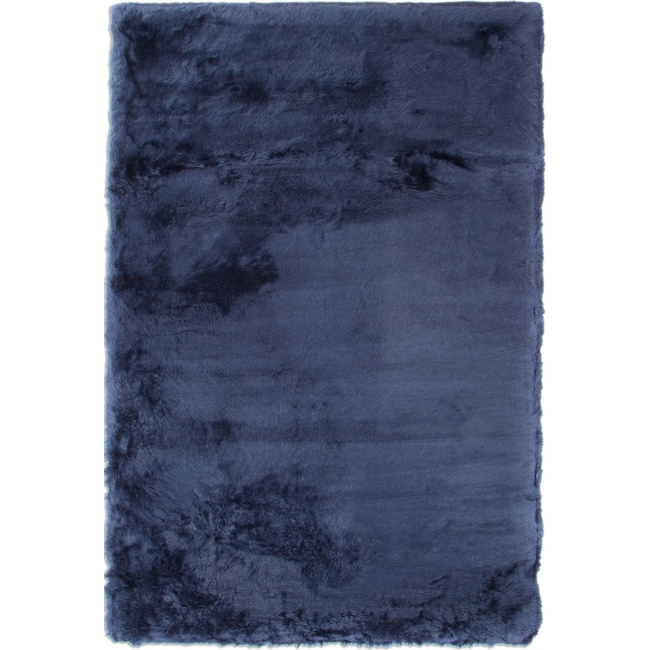 Rugs - Faux Mink Fur Area Rug - Sapphire