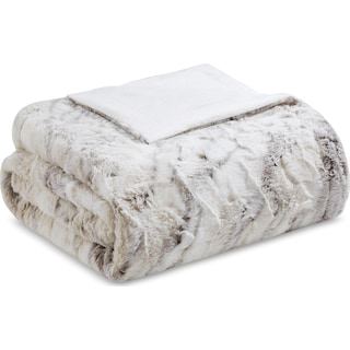 Hadley Faux Fur Throw