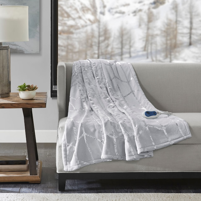 Accent and Occasional Furniture - Cosette Heated Throw - Gray