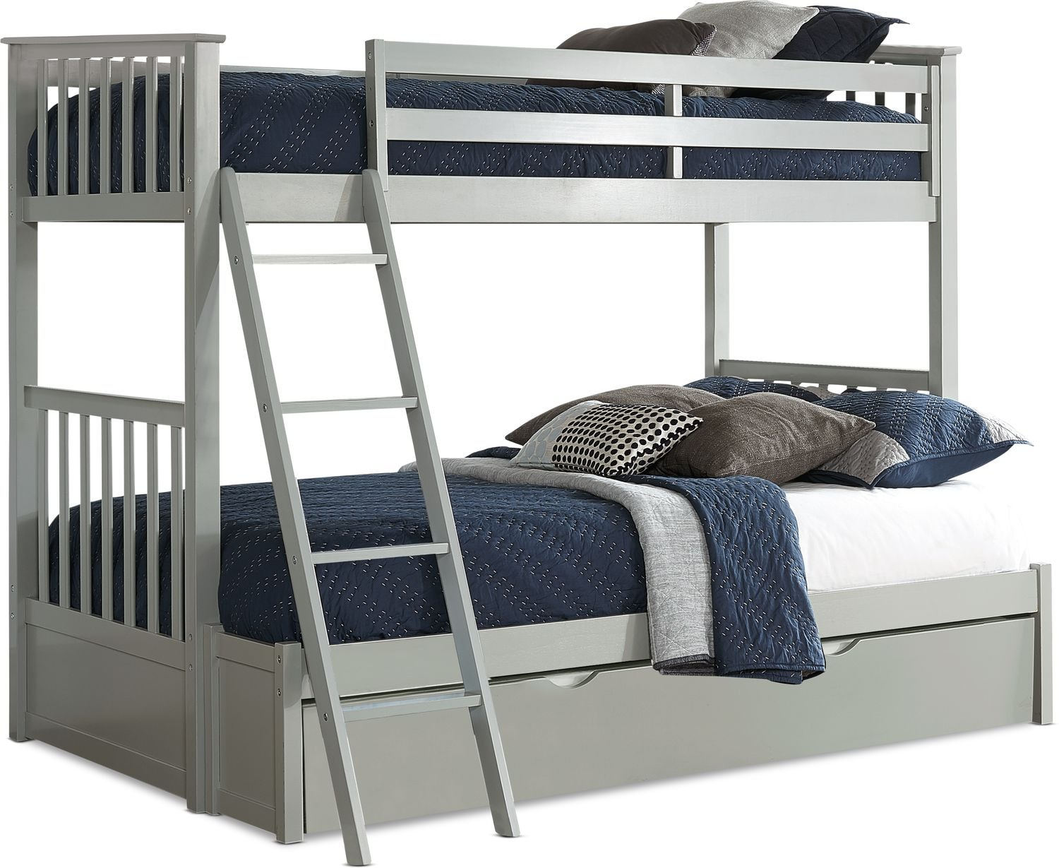Kids Furniture - Flynn Trundle Bunk Bed