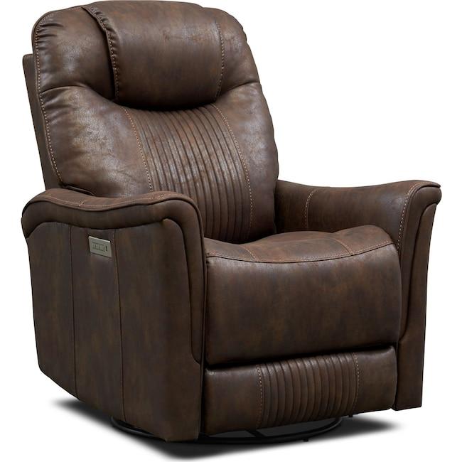 Living Room Furniture - Maverick Dual-Power Swivel Recliner