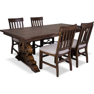 Charthouse Rectangular Dining Table and 4 Side Chairs