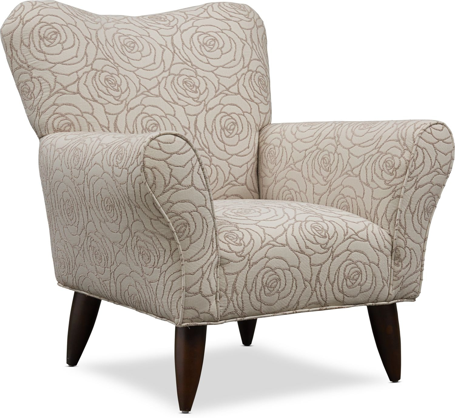 Living Room Furniture - Kady Patterned Accent Chair