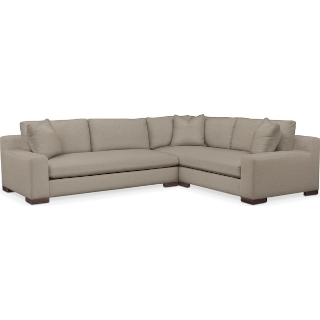 Living Room Furniture - Ethan Performance 2-Piece Large Sectional