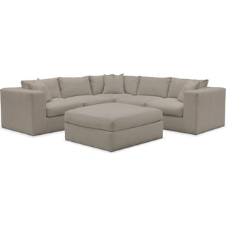 Collin Performance 5-Piece Sectional with Ottoman