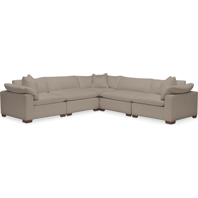 Living Room Furniture - Plush Performance 5-Piece Sectional