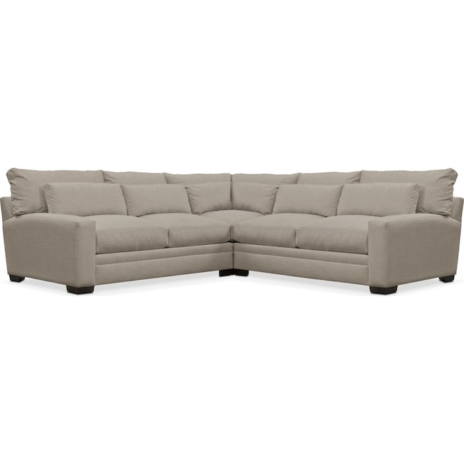 Living Room Furniture - Winston Performance 3-Piece Sectional