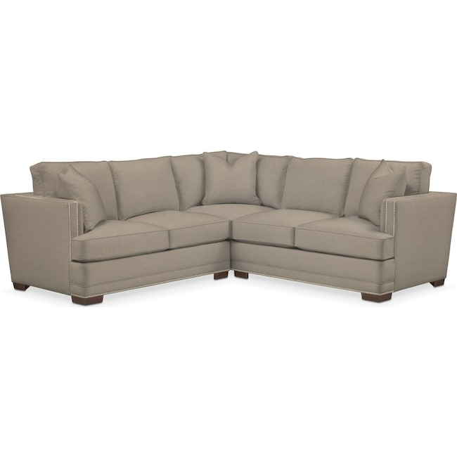 Living Room Furniture - Arden Performance 2-Piece Small Sectional