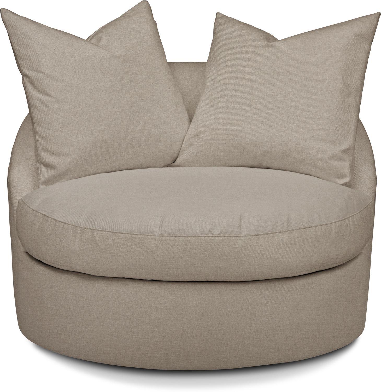 Living Room Furniture - Plush Performance Swivel Chair