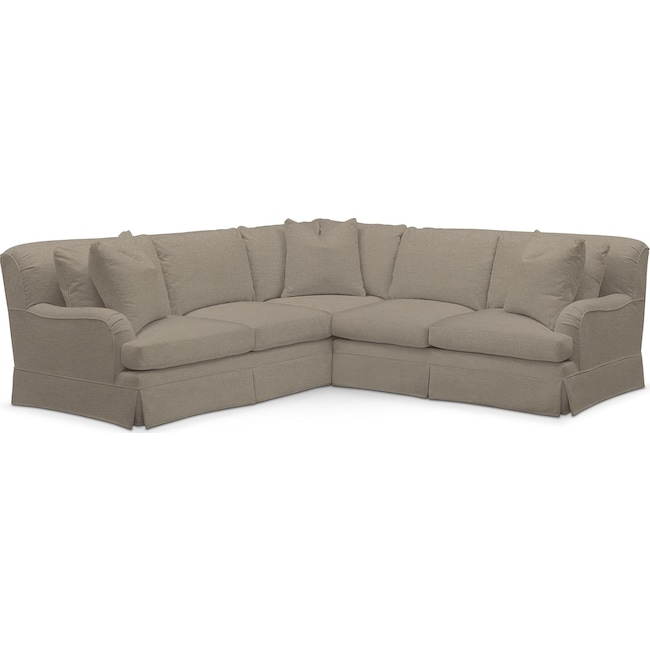 Living Room Furniture - Campbell Performance 2-Piece Small Sectional