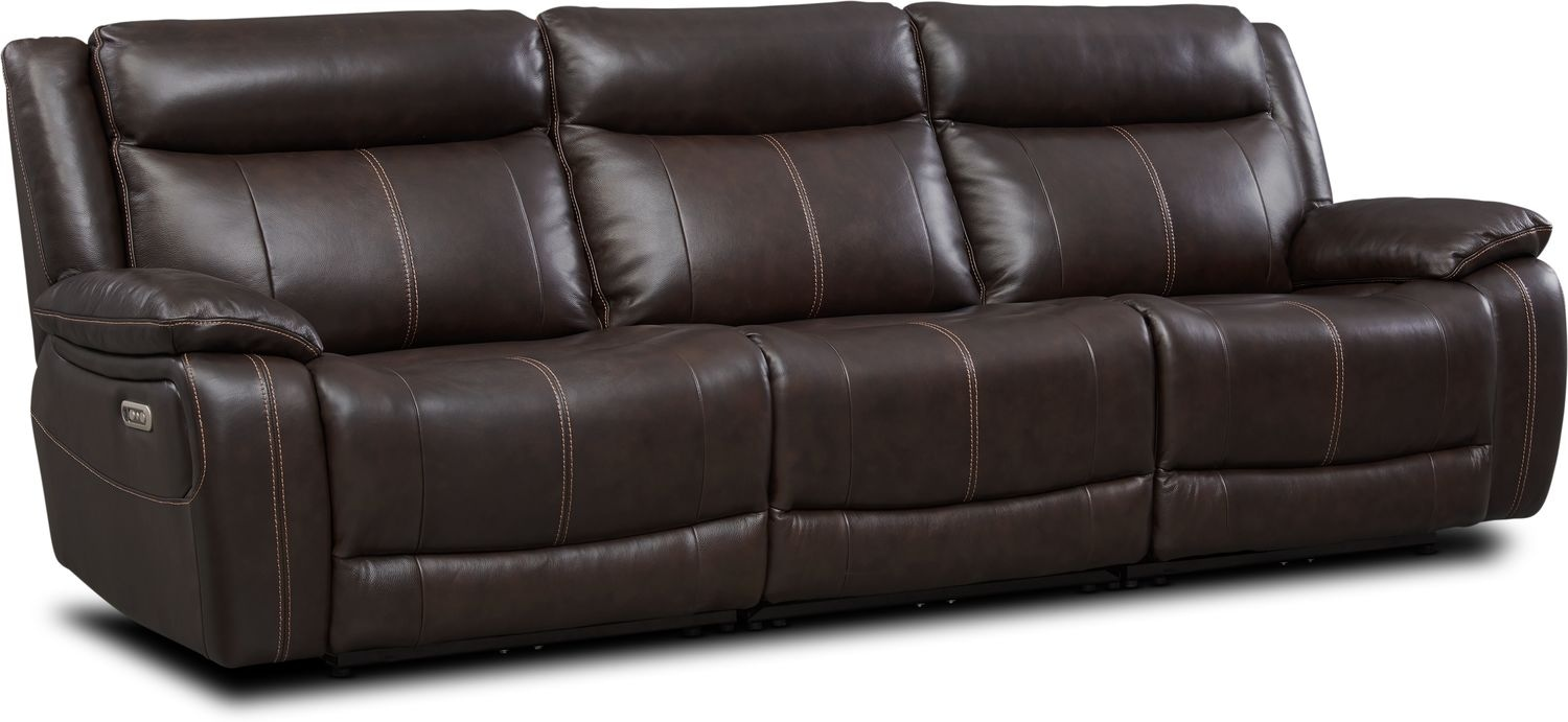 Living Room Furniture - Vince 3-Piece Dual-Power Reclining Sofa