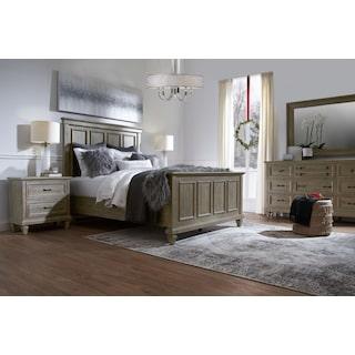 Harrison 6-Piece Bedroom Set with Nightstand, Dresser and Mirror