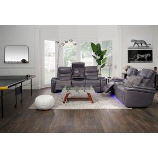 Jackson Triple-Power Reclining Sofa and Loveseat Set