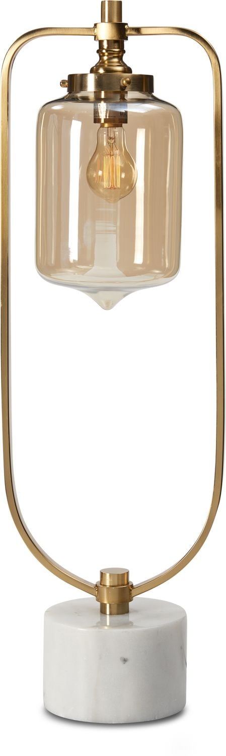 Home Accessories - Brushed Brass Loop Table Lamp