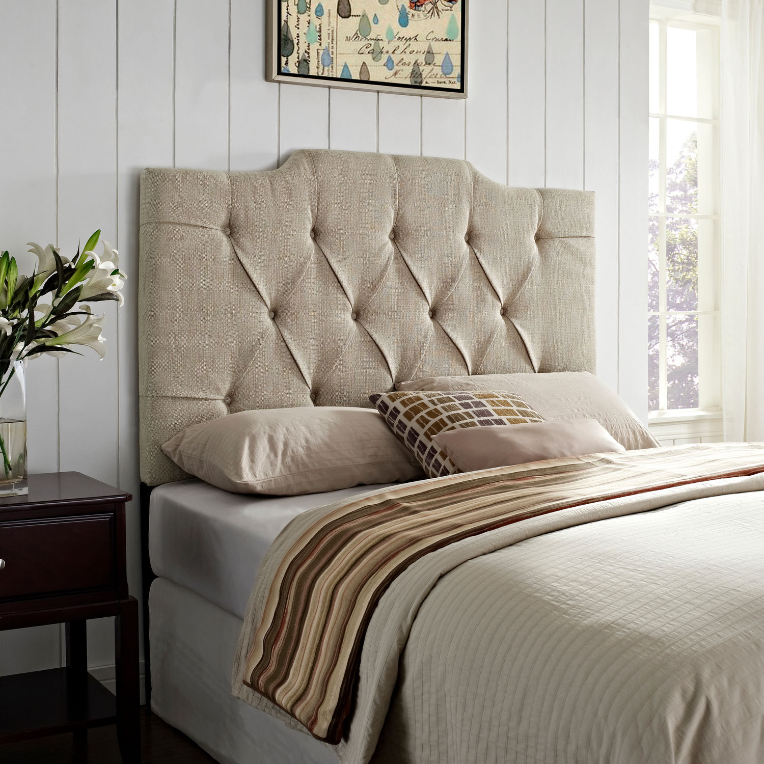 Bedroom Furniture - Augusta King/California King Upholstered Headboard
