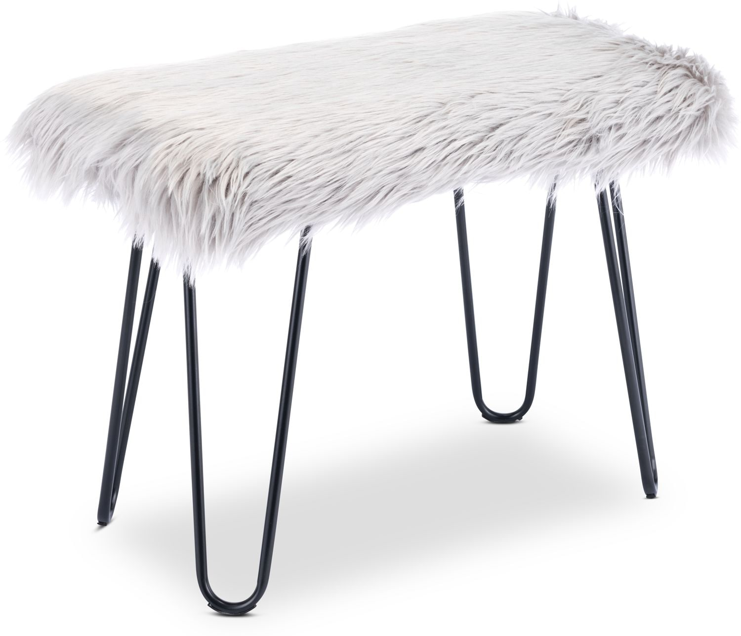 Accent and Occasional Furniture - Mia Faux Fur Bench